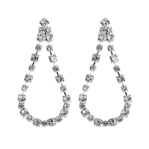 Gala Silver Tone Earrings