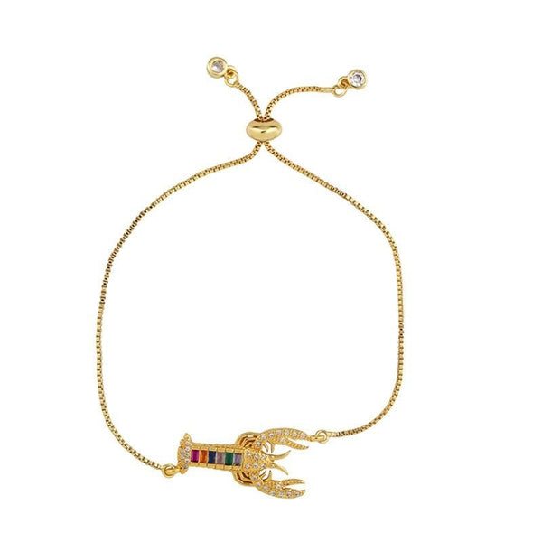 Gold Tone Lobster Bracelet