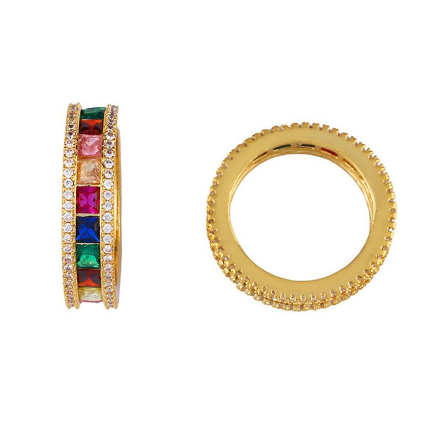 Gold Tone Oiz Ring