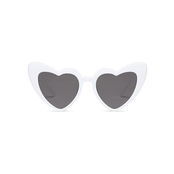 Heart White Sunglasses