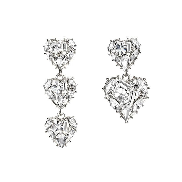 Heart Pattern Details Earrings