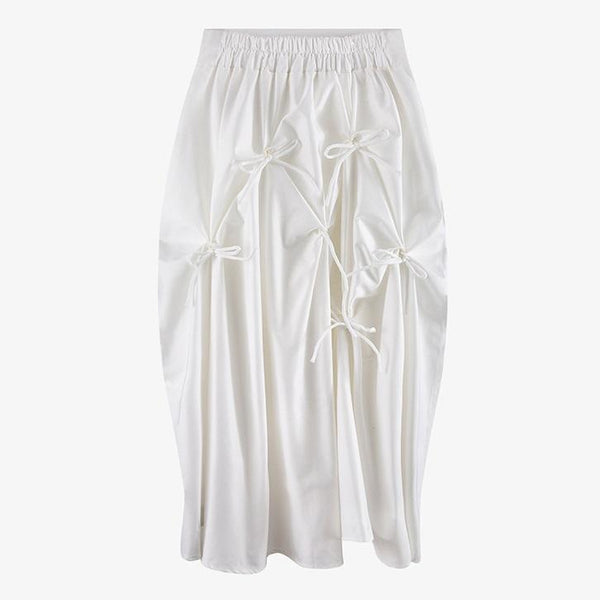 Hiana Bow White Skirt