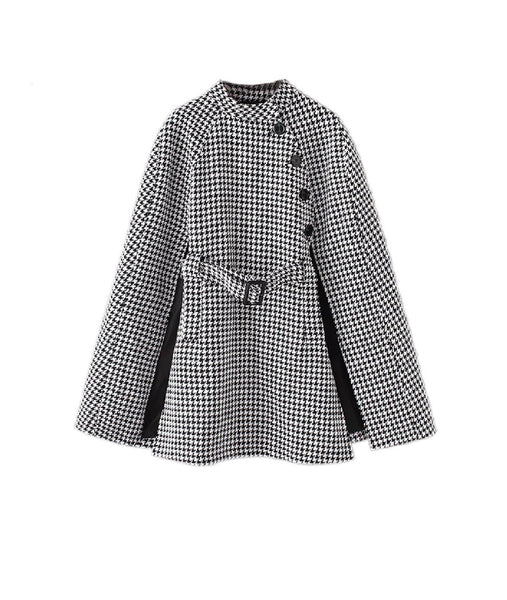 Houndstooth Pattern Cape