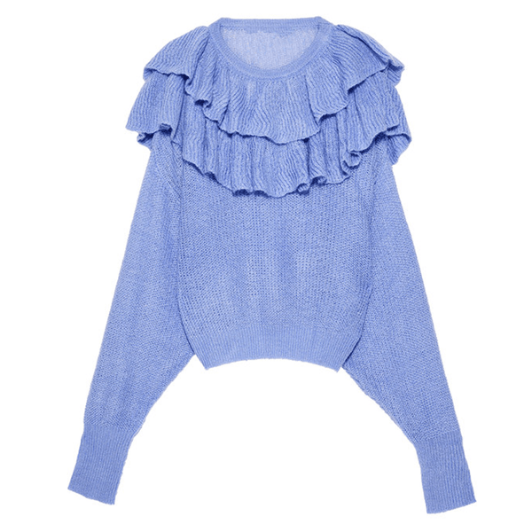 Julie Ruffled Sweater