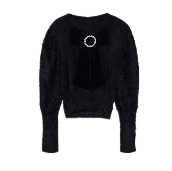 Kala Embellished Black Sweater