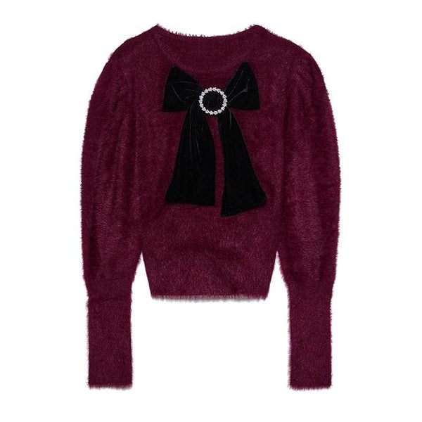 Kala Embellished Purple Sweater