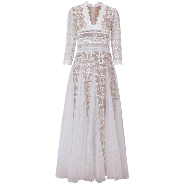 Kira Embroidered Dress