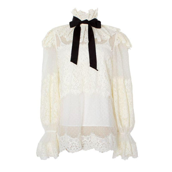 Kleny Lace Bow Top