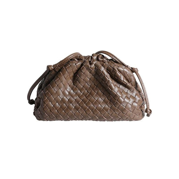 Knot Brown Clutch Bag