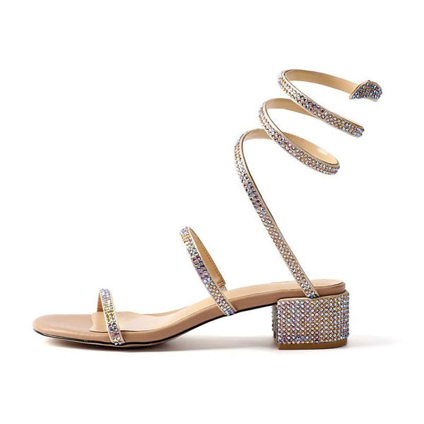 Knuckle Embellished Sandals