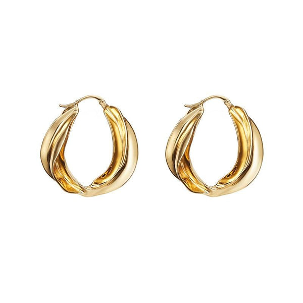 Lar Gold Tone Earrings