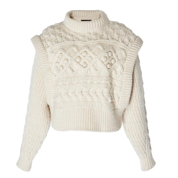 Leon Knitted Off White Sweater