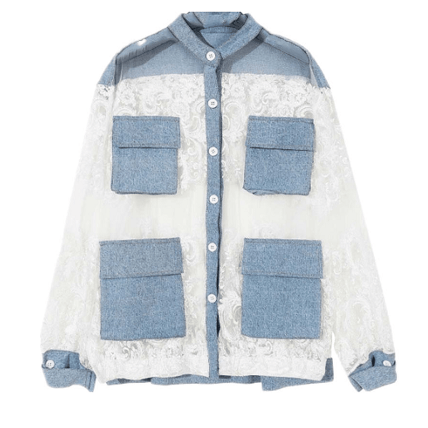 Liv Denim with Lace Jacket