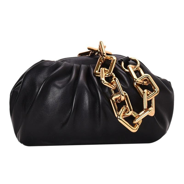 Moko with Chain Black Bag