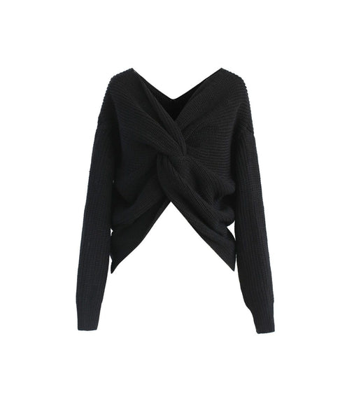 Niki Twist Black Sweater
