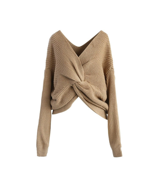 Niki Twist Brown Sweater