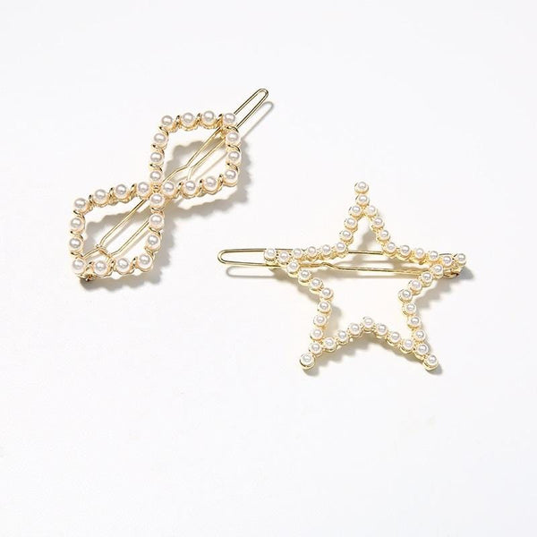 Pack Of 2 Hair Clips with Star and Infinity