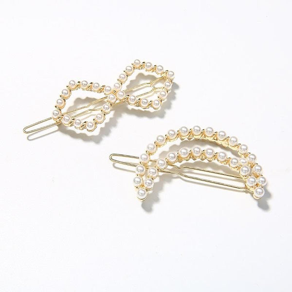 Pack Of 2 Hair Clips with Moon and Infinity