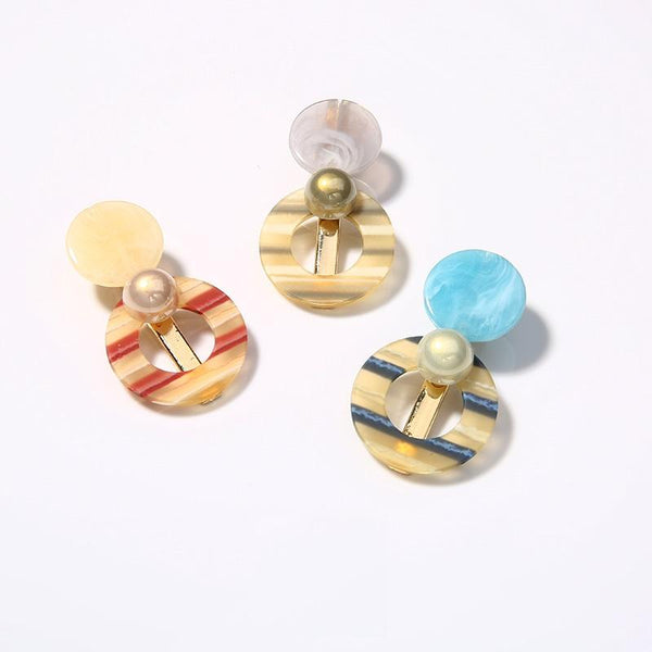 Hair Clips With Resin
