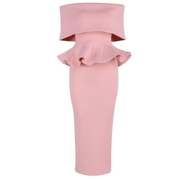 Off Shoulder Tessa Pink Dress Set