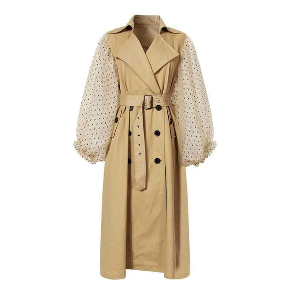 Polka Dot Trench Jacket