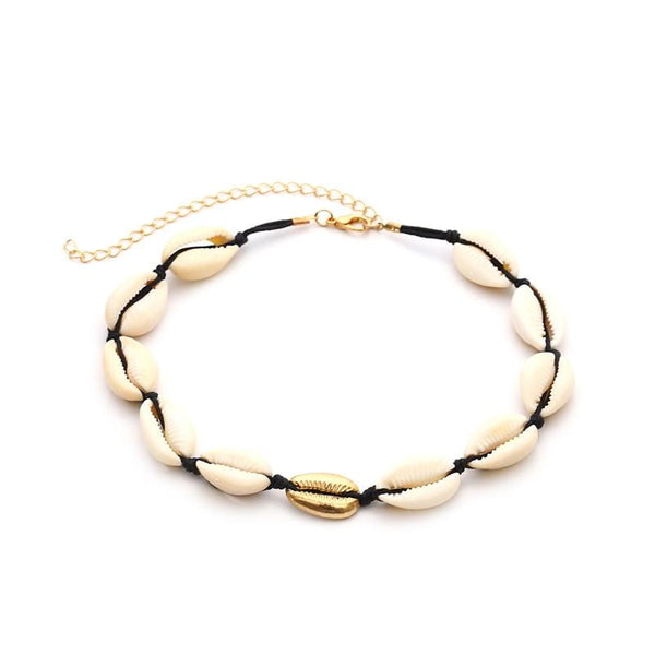 Shell Black Necklace