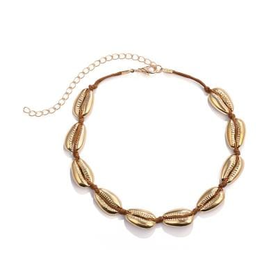 Shell Gold Tone Necklace