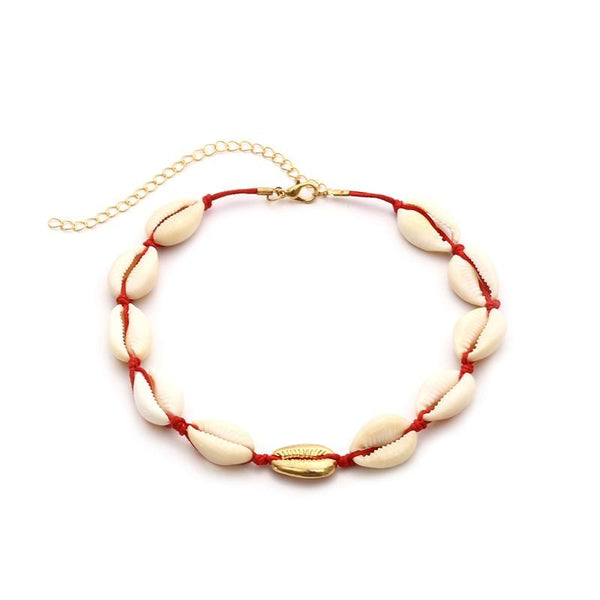 Shell Red Necklace