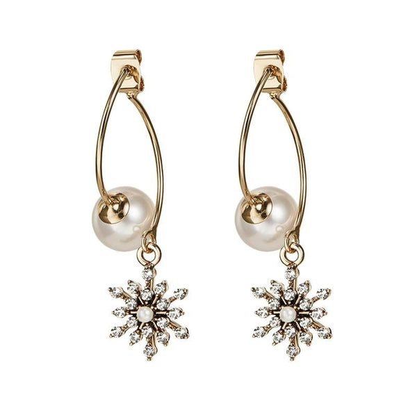 Snowstar with Pearl Earrings
