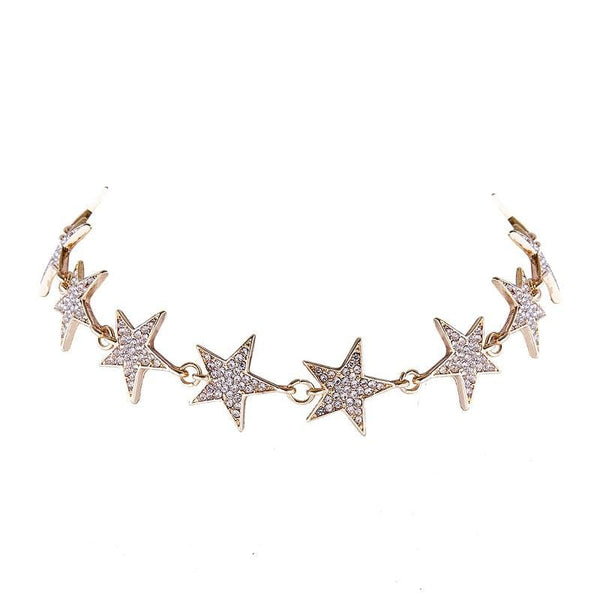 Star Pattern Necklace choker