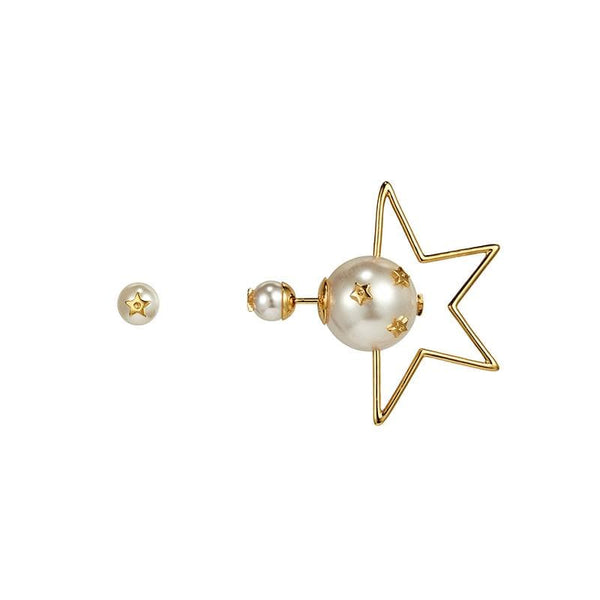 Star with Faux Pearl Earrings