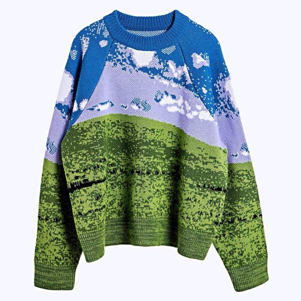Window Pattern Sweater