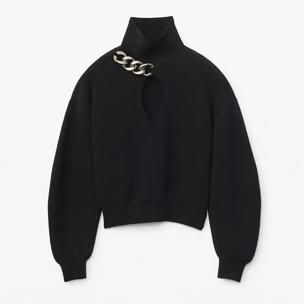 Chain Details Sweater