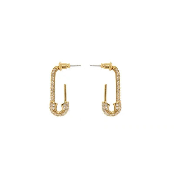 Pin Gold Earrings