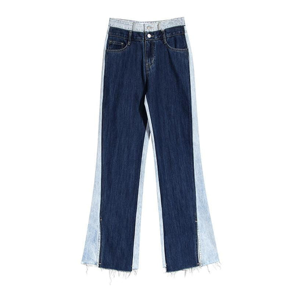 Two Tone Denim Jeans