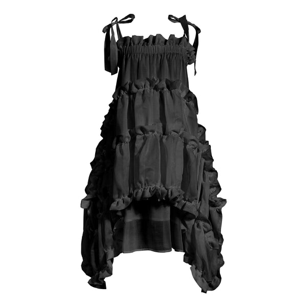 Layer with Ruffled Black Dress