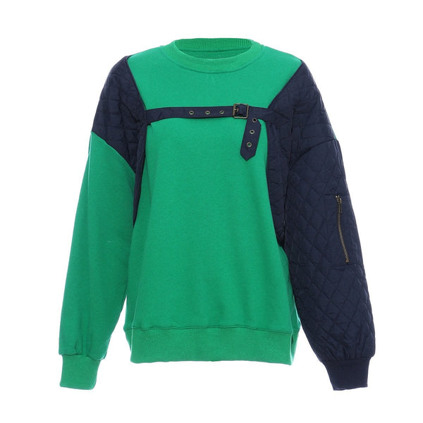 Sanzo Two Tone Green Sweater