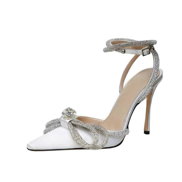 Kirra Details White High Heels