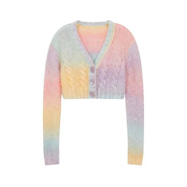 Rainbow Knitted Jacket