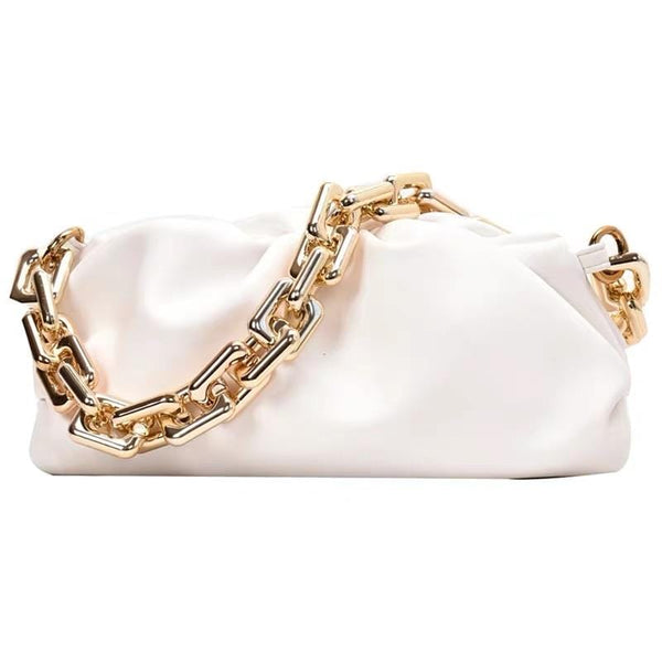 Moko with Chain White Bag