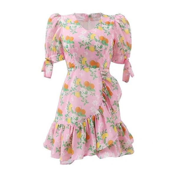 Linda Floral Printed Dress
