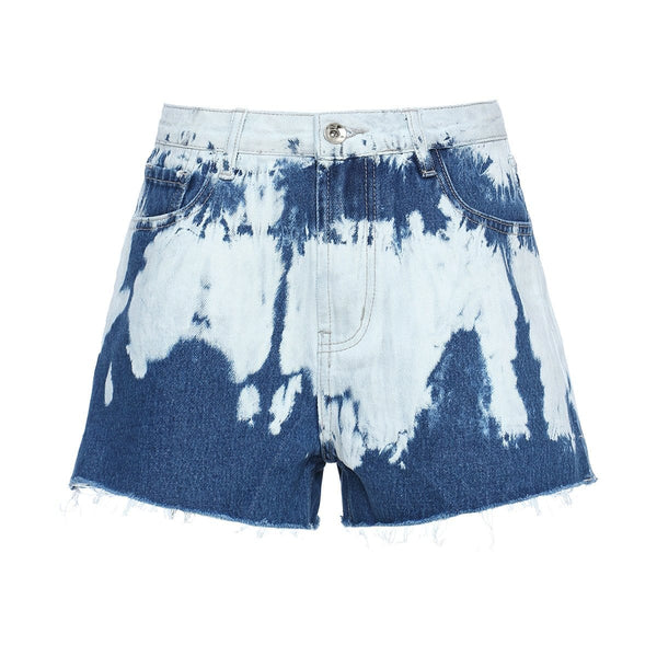 Tie Dyed Denim Short