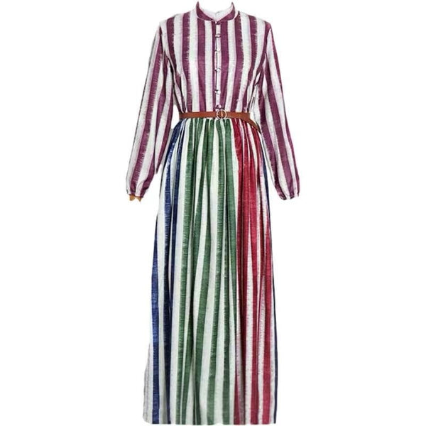 Color Striped Dress
