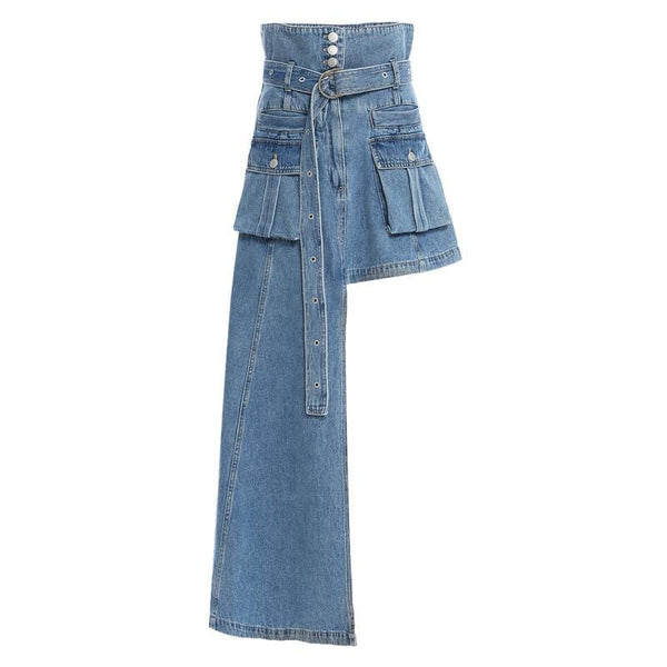 Rolls Denim Skirt