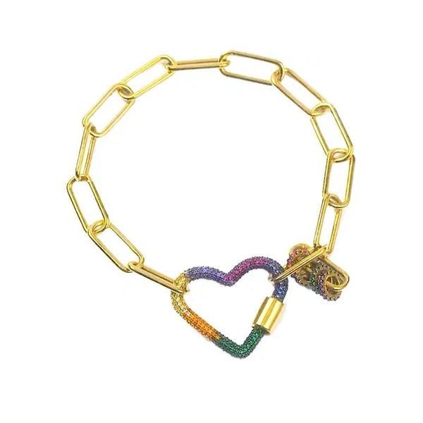 Heart Color Crystal Bracelet