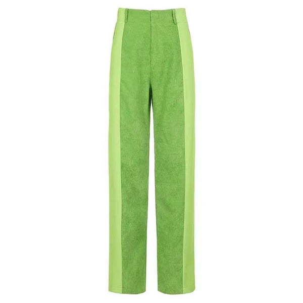 Street High Waist Straight Pants