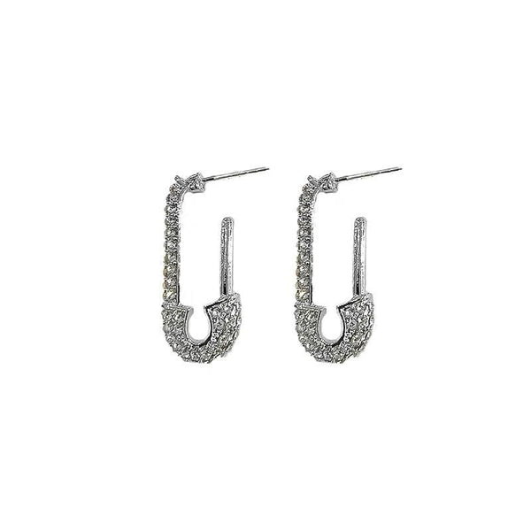 Pin Silver Earrings