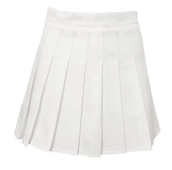Kelly Pleated White Skirt