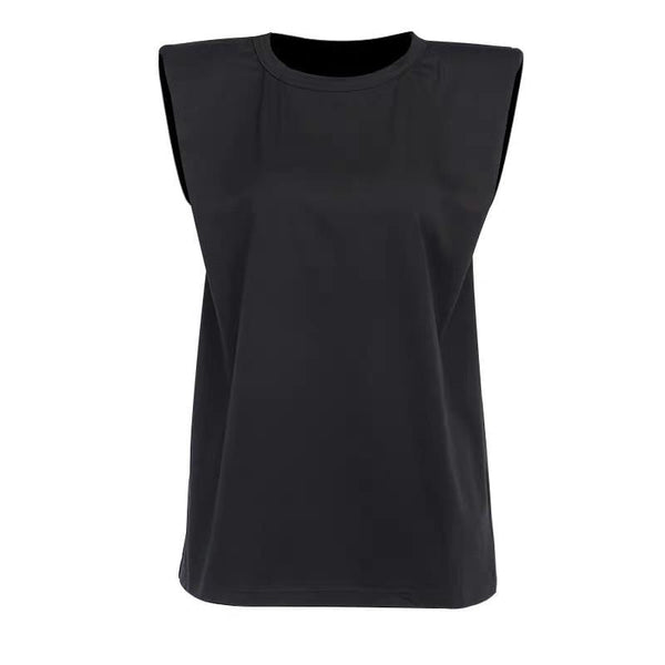 Shoulder Pad Black Top