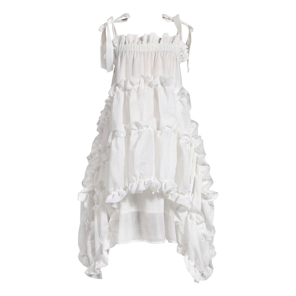 Layer with Ruffled White Dress